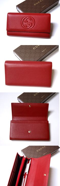 Wallets 45258: New Authentic Gucci Soho Red Leather Continental Wallet Clutch -> BUY IT NOW ONLY: $295 on eBay!
