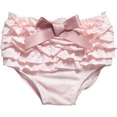 Lili Gaufrette  Girls Pale Pink Ruffle Swimming Pants