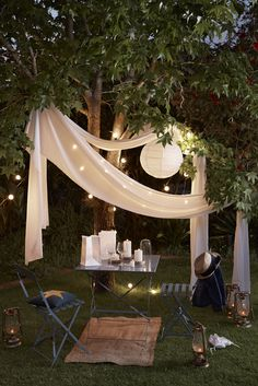 Un coin cosy en extérieur pour discuter …