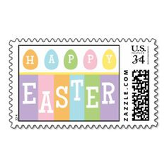 Happy Easter Eggs Postcard Stamp. Wanna make each letter a special delivery? Try to customize this great stamp template and put a personal touch on the envelope. Just click the image to get started!