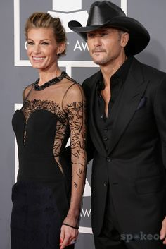 55th Annual GRAMMY Awards - Arrivals held at Staples Center. Featuring: Faith Hill,Tim McGraw. Where: Los Angeles, California, United States. When: 11 Feb 2013.