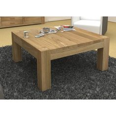 Atlas Square Oak Coffee Table