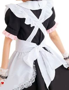 Школьный фартук СССР, вид сзади Maid Outfit, Maid Dress, Peplum Dress, Staff Uniforms, Maid Uniform, School Dresses, Sissy Maid, Cute Outfits, Girly