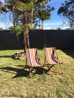 A spot in the sun. #deckchairs :-) www.swanhouse.net.au NSW South Coast - Retro Holiday Rental