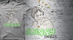 when #miyamoto and #biggiesmalls meet to form a tshirt. go vote http://www.qwertee.com/product/shiggy-smalls/