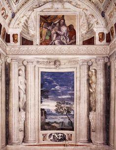 Andrea Palladio (nato Andrea di Pietro della Gondola) (Italiano, 1508 Padova - 1580 Maser) | Villa Barbaro | Via Cornuda, 7, 31010 Maser Treviso, Italy | Frescoes by Paolo Veronese (Italian, 1528-1588) | 1560-1570