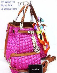 Webe KD Handbag Pink www.Grosiranmu.com