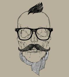 Caveira Hipster - Hipster Skull