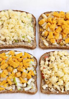 Open face grilled cheese - cheddar, red leicester, whole grain bread, walnuts, butter, cinnamon, apples