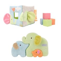 Carters Activity Set, Soft and Sweet 2-piece 6 plus months gift set. Features multiple textures, and tons of activity. Play patterns include filling & spilling and puzzles. Challenging and fun for baby. Soft, plush huggable.  #Carter's #Baby_Product