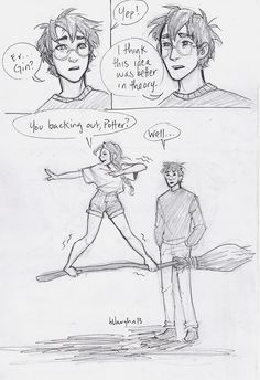 Harry and Ginny sketches