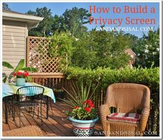 How to build a privacy screen from @K D Eustaquio Wilson -Sand & Sisal
