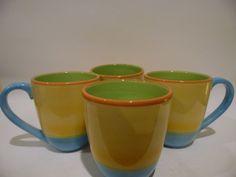 Coffee Mug by The Cellar Tea Cup Mugs O S Ceramic Beach Scene New Macy Citrus  #TheCellar