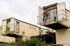 House in Australia made from 12 containers by Madeleine McCristal.