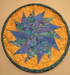 Quilted Wall Art by QuiltinginCirclesLLC on Etsy