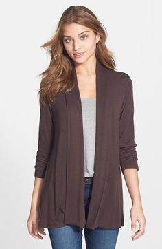 MOD.lusive by Bobeau MOD.lusive Ruched Sleeve Long Cardigan (Nordstrom Exclusive) available at #Nordstrom
