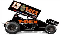 Clyde Knipp brings new sponsor to the WoO tour for Clyde Knipp Racing and T-Rex Tape form a ferociously strong partnership for 2018 World of Outlaws Craftsman Sprint Car Series season. Sprint Car Racing, Dirt Track Racing, Auto Racing, Kawasaki Motorcycles, Triumph Motorcycles, Indian Motorcycles, Vintage Race Car, Vintage Trucks, Vintage Vespa