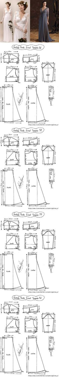 Simple model wedding dress / simple patterns...♥ Deniz ♥
