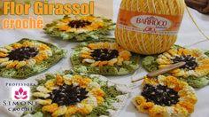 Aula completa aqui : http://youtu.be/72LNzS5uNhY Flor Girassol em crochê - Professora Simone