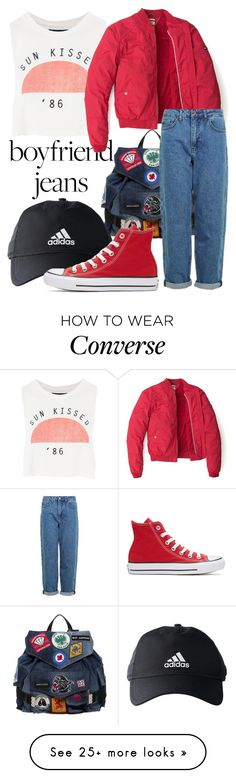 """""""Untitled #468"""" by astiekurniati on Polyvore featuring Dsquared2, Topshop, adidas, Tommy Hilfiger and Converse"""