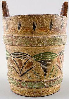 Swedish-commoners-milk-bucket-19c-Hand-painted