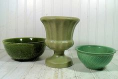 3 Piece Retro Haeger Shades of Spring Pottery by DivineOrders, $15.00