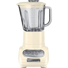 KITCHENAID Artisan blender almond cream ($230) ❤ liked on Polyvore featuring home, kitchen & dining, small appliances, kitchen aid small appliances, cocktail blender, drink blender, kitchen aid blender and ice blender