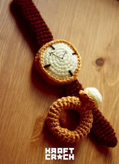 Crochet watch and ring