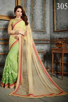 Buy Beige Shimmer Designer Saree Online in low price at Variation. Huge collection of Designer Sarees for Wedding. #designer #designersarees #sarees #onlineshopping #latest #lowprice #variation. To see more - https://www.variationfashion.com/collections/designer-sarees