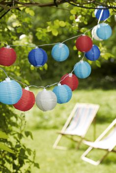 Colourful lanterns can brighten up a garden and are perfect for summer evenings and outdoor entertaining.