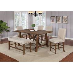 Best Master Furniture YU201 Dinette Set, Ivory