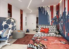Chlapecký pokoj Avengers návrhy interiérů Linie design studio Avengers, Studios, Kids Room, Toddler Bed, Design Inspiration, Furniture, Home Decor, Child Bed, Room Kids