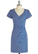 blue and white polka dot wrap