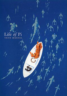 """FANTASY, ADVENTURE: Life of Pi by Yann Martel // Piscine Molitor """"Pi"""" Patel, an Indian boy from Pondicherry, explores issues of spirituality and practicality from an early age. He survives 227 days after a shipwreck, while stranded on a boat in the Pacific Ocean with a Bengal tiger."""