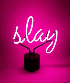 White neon sign aesthetic slay hot pink neon desk light regarding sign decorations 1 home decorators Aesthetic Header, Neon Aesthetic, Aesthetic Collage, Orange Pastel, Magenta, Purple, Whatever Forever, Catty Noir, Pink Quotes
