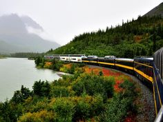 Alaska Railroad's Denali Star  Equipped with a dome car, a fine dining car and student tour guides, the Denali Star travels through seven tunnels and over 8 miles of bridges.