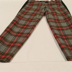 Tartan plaid j. Crew pants☃ Really FUN tartan grey plaid pants with black stripe down sides. These pants scream winter☃! They are wool, lined and warm. They make a fun statemen☃ J. Crew Pants Straight Leg
