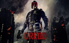 Recently watched Dredd, brilliant film! Well better than expected! Much better than the Stallone version. IMO Stallone looks like a better Judge Dredd, but Karl Urban kept the helmet on! He played the character much better than Stallone. Karl Urban, Dredd Movie, Dredd 2012, Hollywood Action Movies, Alex Garland, Movie Sequels, Upcoming Series, Movies 2014, Hd Movies