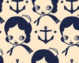 Anchors Aweigh! Tea & Ink colorway fabric by milktooth
