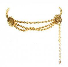 vintage CHANEL gold link medallion vintage belt