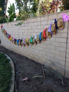 Hat & bandana display for western party