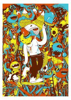 Oscar Llorens illustration Soy un ilustrador y diseñador de Madrid que, después de estar 5 años en la facultad de económicas se dio cuenta que la economía no era lo suyo. De forma profesional empiezo a dedicarme a la ilustración hace aproximadamente 10 años, al comenzar a trabajar en publicidad.  Proyecto: Silk-screen print. Excursion  http://www.ollorens.com/