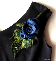 Felted flower brooch felted brooch felt jewelry flower brooch