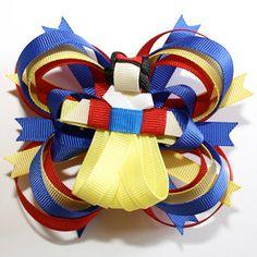 Disney Snow White Inspired Stacked Hair Bow