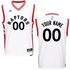 fa351ec19 Men s Toronto Raptors adidas White Custom Replica Home Jersey Esportes