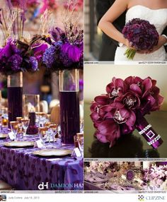 Purple Wedding Table  #Purple wedding receptions ... Wedding ideas for brides, grooms, parents & planners ... https://itunes.apple.com/us/app/the-gold-wedding-planner/id498112599?ls=1=8 … plus how to organise an entire wedding, without overspending ♥ The Gold Wedding Planner iPhone App ♥