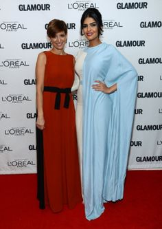 (L-R) Cynthia Leive and Saudi's Princess Ameera Al-Taweel attend the 2013 Glamour's 23rd annual Women of the Year awards on in New York City, USA