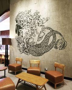 Bao (@simplebao) • Instagram photos and videos Siren Design, Starbucks Siren, Mermaid Room, Bao, Photo And Video, Wall Art, Entertainment, Instagram, Videos