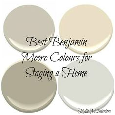 The best top benjamin moore colours for selling or staging a house or home ... Revere Pewter top left