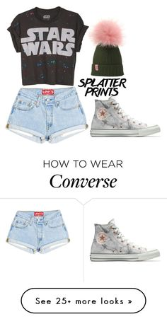 """""""splatter prints"""" by divasfashion4 on Polyvore featuring Converse"""
